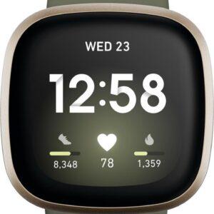 Fitbit Versa 3 - Smartwatch - Olijfgroen (0811138039783)