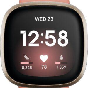 Fitbit Versa 3 - Smartwatch dames - Roze (0811138039806)